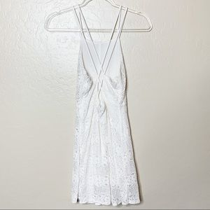 Urban Outfitters Dresses - UO Kimchi Blue White Lace Criss Cross Dress